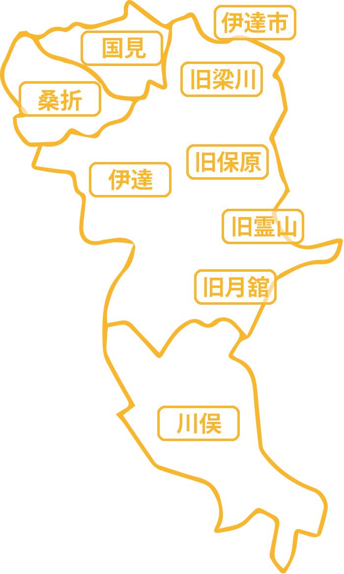 伊達市周辺地図